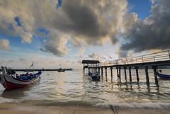 Sungai Batu Jetty - sunset (<Pirate>) Tags: sungai batu sunset october 10th 2016 jetty seascapes waterscape landscape colors boat fisherman nature 1018 is stm haida nd1000 pro glass gnd 6hard teluk kumbar bayan lepas penang