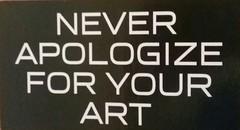 Never apologize (Randall 667) Tags: slap rhode island graffiti street art never apologize for your artist artwork sticker