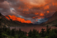 Spectacular Sunrise, Saint Mary Lake, Glacier National Park, Montana, USA (klauslang99) Tags: nature naturalworld northamerica photography klauslang sunrise glacier national park lake saint mary montana usa outdoors