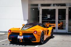 Mirrored (Noah L. Photography) Tags: laferrari orange car sportscar supercar hypercar hybrid italian ferrarinewportbeach newportbeach ferrari
