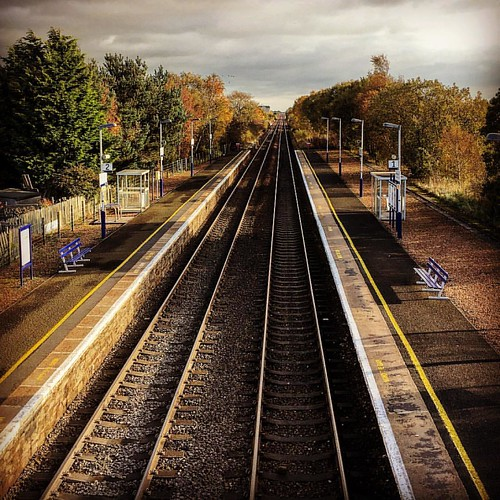 On #track for #autumn #railway #instadaily heading to winter #carnoustie #barry #unused