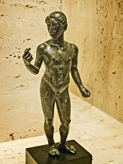 Roman Statuette of a Youth from Cumae, Italy 450 BCE Bronze (mharrsch) Tags: roman statue bronze youth italy 5thcenturybce ancient nelsonatkins museum kansascity missouri mharrsch