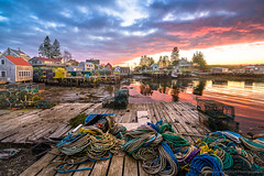 Port Clyde (BenjaminMWilliamson) Tags: coast community dock fishing gifts harbor houses image landscape lobstering me maine newengland ocean photography portclyde prints rope rugged scenery scenic sunset usa wharf