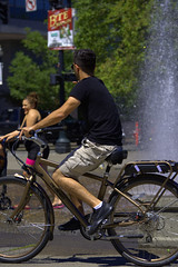 Bicycle Rider (swong95765) Tags: guy man male riding bicycle exercise fountain people cruising