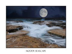 Moody ocean flows over rocks and crevices (sugarbellaleah) Tags: rocks geology ocean moody stormy clouds waves narrabeen australia nature flows flowing water environment sea seascape landscape weathered eroded sky waterfalls