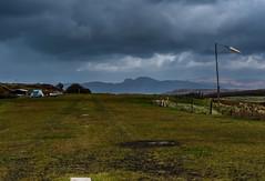 Runway (13 Monkeys) Tags: mull scotland sea hill calgary bay cloud runway windsock wtf