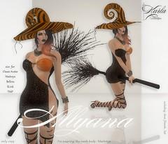 !!! Karla Boutique !!! Alljana - fitmesh (!!! Karla Boutique !!!) Tags: secondlife karlaboutique karlahyx slink maitreya minidress mesh belleza body meshbody tmp new halloween witch hat