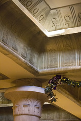 There's no place like pyramid for the holidays (quinn.anya) Tags: ankh pyramid luxor hieroglyphs christmas decorations
