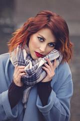 Raminta (Sigita JP) Tags: naturallightportrait model beauty blueeyes portrait redhair