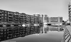 River Reflection (David C. McCormack) Tags: americana architecture blackwhite bw blackandwhite city cityscape eos6d eos greatlakes harbor inspiration lakemichigan lakefront lake midwest monochrome milwaukee milwaukeeriver outdoor thirdward river wisconsin water
