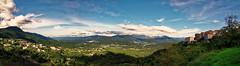 Sartene (Schmouel) Tags: panorama landscape corsica corse sartene clouds sky mountains sea