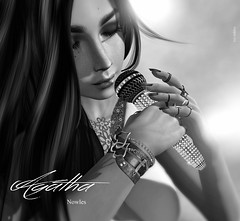 Agatha (Roy Mildor CEO of RM ~Art of poses ~) Tags: roymildor sl secondlife photography poster promo singer performer profile art monochrome woman girl snger schwarzweiss