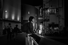 The midnight hour... (Presence Inc) Tags: night portrait filmmood rx1rm2 cinematic street rx1r people city fullframe dark mirrorless 35mm texture transport citylife backlit compact everyday candid tokyo designtheory photography layers sony society bw life japan detail
