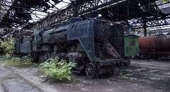 Budapest abandoned Soviet era trains