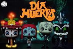 Felz Dia de los Muertos!  (PrinceMatiyo) Tags: disney popvinyl funko dayofthedead thebookoflife xibalba nightmarebeforechristmas sally jackskellington lamuerte