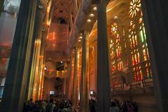 NH0A3801s (michael.soukup) Tags: barcelona sagradafamlia sagrada familia basilica church stainedglass color colorful windows nave interior gaudi churchoftheholyfamily catholicchurch artnouveau architecture neogothic spain catalonia