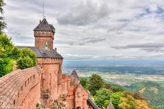 1000 years of history . haut koenigsbourg , Alsace , France (Mike Y. Gyver) Tags: d90 nikon nikkor18105 landscape clouds ciel contrast castel myg 2016 alscace france sky