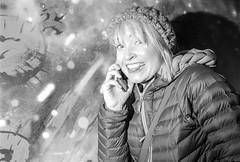 Reporter On The Job (Shot In The Street) Tags: streetphotography hp5 journalist ilfordhp5 street bw reporter 2016 film zombie canoneos3 analogue journo esmeashcroft candid mono monochrome bristol filmisnotdead blackandwhite black ilford bristolzombiewalk2016 white