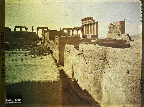 Syrie, Palmyre, Temple du Soleil, Colonnade sud ouest