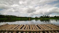 Sumlang Lake (Hendraxu) Tags: raft bamboo water lake sumlang tree trees green cloud clouds travel traveldestination sky panorama landscape