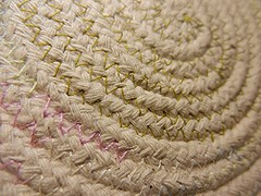 Stitches... (BAKAEDAR) Tags: macromonday stiches stitch stitches fruitbowl rope