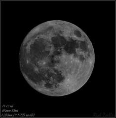 **98% SUPERMOON 11.13.16** (**THAT KID RICH**) Tags: richzoeller rich moon zoeller thatkidrich tkr astro detail 1200mm 2x converter canon 5dm2 supermoon space galaxy