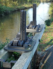 'Open the sluice gates'.... 19th century technology still works well... River Frome, Dorchester... (Sue - happy sparrow) Tags: river country water mechanisms cogs mechanics riverfrome dorchester dorset winter sunshine technology historic 19thcentury victorian