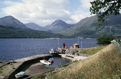 Inversnaid  - with 'Countess Fiona' at the pier. Sep'84. (David Christie 14) Tags: countessfiona lochlomond inversnaid
