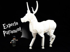 Harry potter on steroids (Magma guy) Tags: lego stag sculpture animal white monochrome harry potter expecto patronum december happy merry christmas rudolf rudolph what
