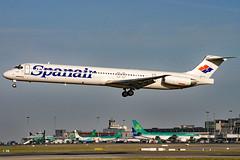 EC-GXU (GH@BHD) Tags: ecgxu mcddouglas mcdonnelldouglas md80 md83 dc9 douglas jkk spp spanair dub eidw dublinairport dublininternationalairport dublin airliner aircraft aviation
