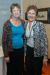 Mary Stancel and Becky Hunter at the PARTNERS Fall Coffee. (UTHealth) Tags: uthealth school nursing partners fall coffee 2016 houston texas university health science center