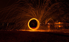 Light Painting (pepe50) Tags: pepe50 light night lightpainting italy campogalliano cave leisure paint painting longexposure travel fun party circle fire woolsteel martian ufo alien canon canon450d emiliaromagna notte