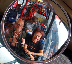 On the front seat, at the top . . . (rgrant_97) Tags: uk england reflection bus mirror hull