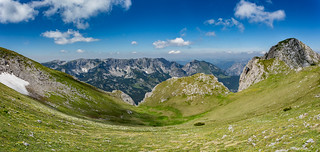 Maglić peak 2396masl on the right and Volujak mounatin in the backgound EXPLORED 28.08.2015