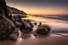Falesia Beach Rocks (Roger Nolan LRPS) Tags: sea beach portugal sand algarve falesia