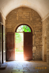 Sunlight flooding in an open entrance doorway (Peter Noyce) Tags: door travel sun sunlight france travelling tourism sunshine french see flooding europa europe doors arch open character entrance sunny indoor arches nobody indoors doorway tragedy disaster worn destination inside concept exit traveling provence conceptual wayout touristattraction flagstone calamity internal catastrophe concepts travelled traveled destinations wop arched flagstones bouchesdurhone interiorview saintremydeprovence placesofinterest provencealpescôtedazur wayin cataclysm visitorattraction verticalformat withoutpeople characterful tourismleisure placetovisit saintpauldemausolemonastery peternoyce maisondesantesaintpauldemausole