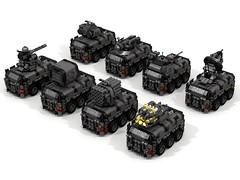 """Bulldog"" AFV Series (-Lee Barton-) Tags: lego povray ldd armouredfightingvehicle lddtopovray"