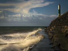 Jetty Seascape (shawn~white) Tags: ocean longexposure sea sky painterly beach nature wales coast place unitedkingdom aberystwyth ceredigion shawnwhite otherkeywords canon6d shawnraisindp