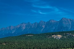 Rocky Mountains as seen from Fort Steele, Canada.