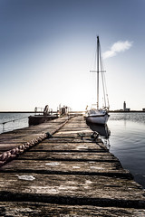 Little used (Phil_J_123) Tags: wood blue sky photography yacht jetty dorset poole moored hurstcastle pjackson harbourviewphotography