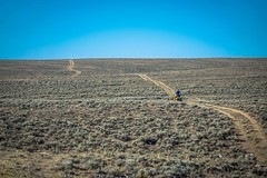 Still cycling the route less travelled in the Great Divide Basin.