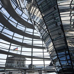 """angies dome"" (ewaldmario) Tags: light building berlin monument glass look lines architecture composition germany deutschland construction nikon europe geometry steel curves wideangle reichstag architektur coppola 16mm bundestag gebude glas d800 stahl kuppel lookthrough reichstagsgebude platzderrepublik ewaldmario berbuz angiesdome"
