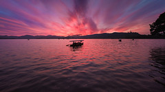 Flowing Red (Ateens Chen) Tags: china sunset sky cloud water landscape nikon wave westlake hangzhou ateens settingsun eveningglow d810 afsnikkor1424mmf28ged