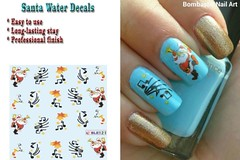 BLE121 NAIL (Jasmeet.k) Tags: santa christmas xmas tree art water nail slide musical decal transfer nailart bombastic