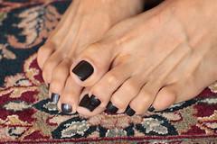 Freja (IPMT) Tags: black color sexy feet metal foot grey gris toes gun painted negro gray polish barefoot barefeet pedicure toenails toenail freja pedi descalza