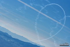 Aerial Maneuvers (kevin-palmer) Tags: deathvalleynationalpark deathvalley nationalpark california mojavedesert november fall autumn nikond750 telephoto nikon180mmf28 evening clear sunny sunshine blue sky panamintrange telescopepeak loop aerial maneuver plane airplane chinalakenavalairweaponsstation contrails mountains scenic view