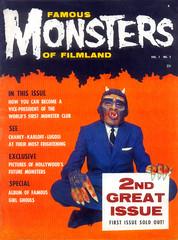 Famous Monsters of Filmland #2 (1958) (Tom Simpson) Tags: monster vintage magazine cover 1950s 1958 famousmonsters famousmonstersoffilmland