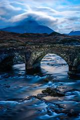 Sligachan Bridge (chriswillmoon) Tags: black skye scotland moonlight sligachan couillin