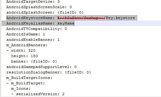 [Unity] Keystore path