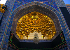 fatima al-masumeh shrine gold ceiling, Central County, Qom, Iran (Eric Lafforgue) Tags: old decorations building horizontal architecture religious outdoors gold site iran islam religion middleeast belief nobody nopeople mosque holy ornament ornaments ashura iranian ornate hussein sights attraction islamic decorated adornment iman shiite ashoura hussain qom ghom persiangulfstates   16493 husayn colourimage qum  iro ornately  masumeh centralcounty westernasia  qomprovince